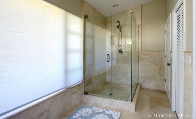 Seamless Shower with Wand, Private Water Closet ..