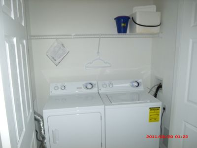 laundry facilities in condo