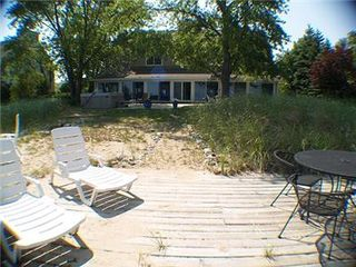 New Buffalo house photo - View of Bon Dini Beach House from Lake