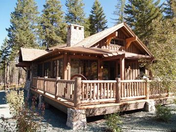 Bigfork house rental - Luxury, Modern cabin with large front deck for entertaining and BBQ