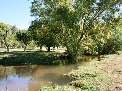 Mason Creek with Orchard in Background