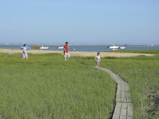 Chatham house photo - Kids love the board walk... caution: slippery when wet-soft spartina underfoot