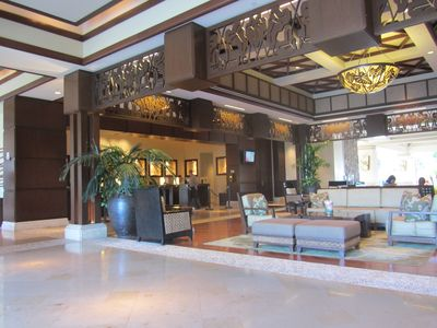 The lobby, including full concierge services.
