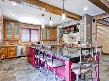 Fully stocked Gourmet Kitchen with Sub Zero and Wolf Appliances, Granite Counter