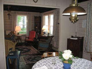 Bayville cottage photo - view from dining room into living room
