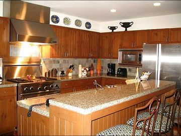 Granite Counters and Stainless Steel Appliances in the Kitchen