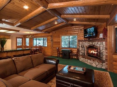 Spend your time with the amazing log fireplace while you catch a movie.