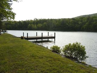 Huddleston cabin photo - Private deep water dock (shared with Cabin 1) is a special place to see nature.