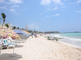 Playa del Carmen condo photo - Beautiful warm sandy beaches in front of condo.