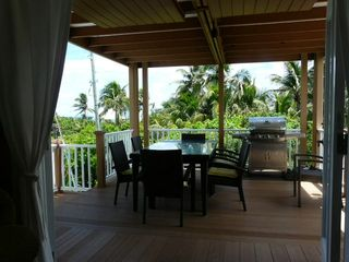Elbow Cay and Hope Town house photo - Covered deck with gas grill