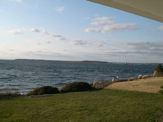 Portsmouth cottage photo - View to the NW, Lighthouse, Bristol & Hog Isl.