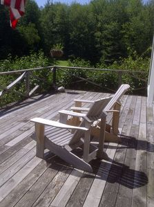 Adirondack chairs for soaking up the view from deck