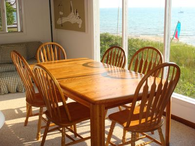 Montague cottage rental - Dining with a fabulous view of the lake.