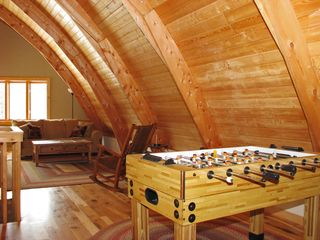 West Yellowstone house photo - Upstairs family room with Fooseball table