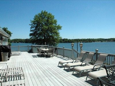Spacious Lakeside Deck for entertaining! Private Boat Ramp & Docks