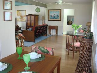 Kailua house photo - Living room flows to the dining area and kitchen for comfortable living.
