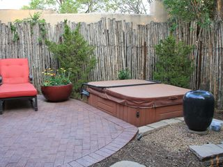 Santa Fe house photo - Spa Patio with private entrance from Master Bathroom/Bedroom.