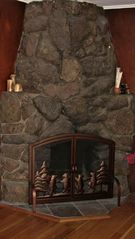 Estes Park cabin photo - Wood Fireplace