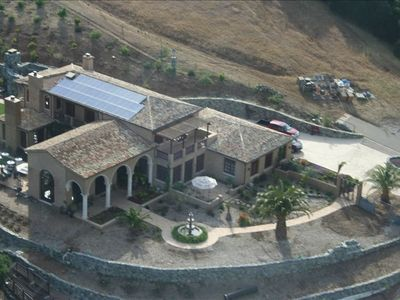 This is an aerial view of our home before landscaping and pool installation.