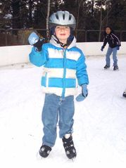 Bend condo photo - First day ever - skating on the rink - lots of fun