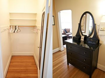 Walk-in closet / entry hall with dresser