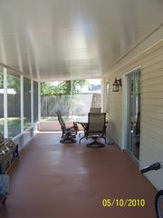 Spring Hill house photo - Spacious Screened Lanai/Patio with 4 Patio Chairs and Patio Table.