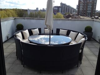 Putney & Wandsworth apartment photo - fantastic terrace with Rattan table and chairs