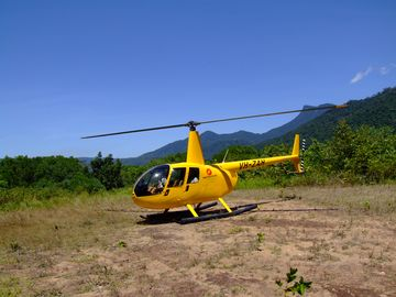 Come and go using our on-site chopper pad