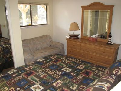 Fully furnished downstairs master makes multi-family shares easy.
