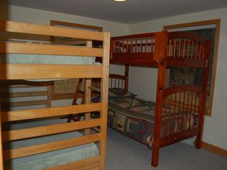 Bethel chalet photo - 2 bunk beds, sleeps 4