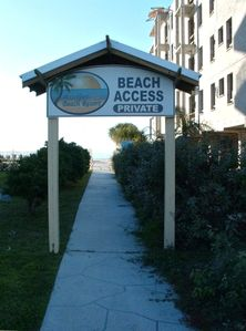 Private Beach Access for Barefoot Beach Resort directly across the street