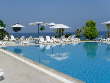 Pool over looking the Aegean Sea