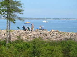 Prospect Harbor cottage photo - Relax on the oceanfront and watch the lobster boats go by.