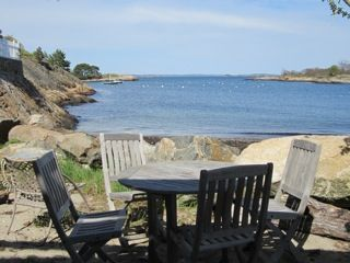 Marblehead cottage rental - Quiet, own private beach, house directly behind, lower deck, outdoor shower