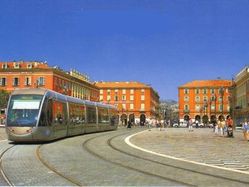 Trams at Place Massena