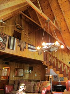 30' Ceilings in this Lodge Style Cabin built 1926
