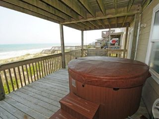 Surf City house photo - Bottom Deck w/ Hot Tub