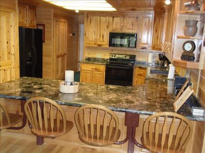 Kitchen: granite countertops, dw--Whispering Pines