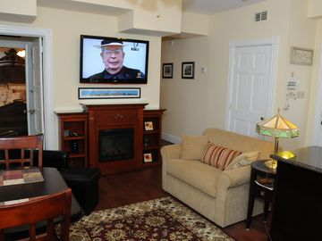 Holly Fireplace and HDTV