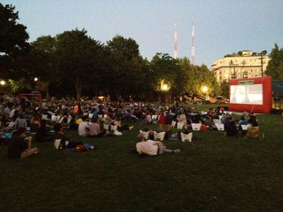 Free summertime movies in Cal-Anderson Park
