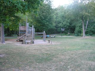 Lake Leelanau cottage photo - Playground, basketball court, horseshoes, swings