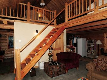 Cozy Living room showing the loft