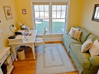 Vineyard Haven house photo - Office Has Work Area, TV & Sofa. First Floor
