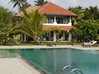 Beach Villa  with Private Chef, Pool and Tennis Court in Wadduwa, 3 Bedrooms,