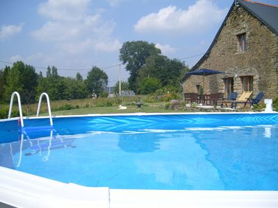 Saint-Abraham farmhouse rental - pool and terrace