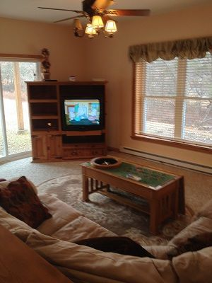 First floor sectional with Game Table and TV,DVD.