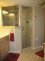 Lower Level Guest room bath/shower - Lake Anna house vacation rental photo