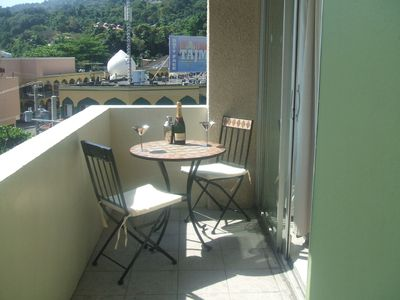 Ocho Rios apartment rental - Relax on the balcony (seating for 4 people)