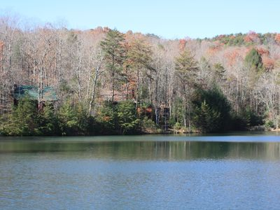 Blue Ridge house rental - Enjoy a hike to the stocked pond at top of trail. Just a short 5 minute walk.