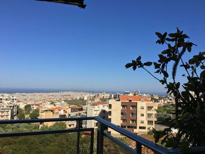 image for Panoramic sea and mountain view in a very calm district close to Beirut city